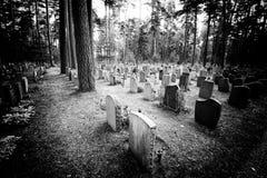 Noir Friedhof des alten Filmes Stockbild