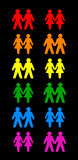 Noir gai de couples Image stock