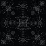 Noir gothique de tuile de fleur Images libres de droits