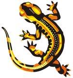 Noir jaune animal de lézard illustration stock