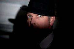 Noir krimineller Detektiv des Filmes stockfotos