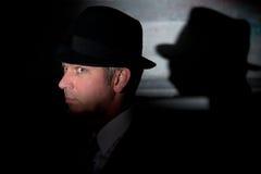 Noir krimineller Detektiv des Filmes stockfoto