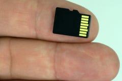 Noir micro d'écart-type de carte de mémoire photographie stock libre de droits