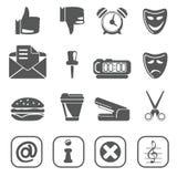 Noir réglé 2 d'icône d'Internet Photographie stock