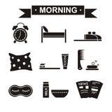 Noir réglé de matin Photographie stock libre de droits