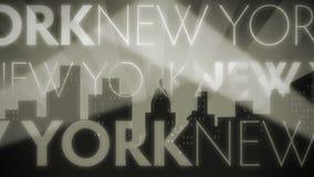 Noir Retro- Schleife New York stock video