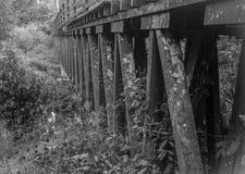 Noir sinistre de pont image stock
