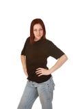 Noir t shirt girl Stock Images