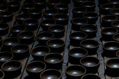 Noir traditionnel de poterie de terre de poterie en céramique Images stock