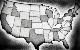 Noir USA map royalty free stock images