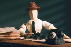 Noir wooden dummy. Stock Image