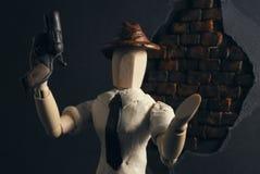 Noir wooden dummy. Stock Photography