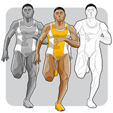 Noircissez l'athlète Images stock