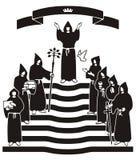 Noircissez la cérémonie de robe longue Image libre de droits