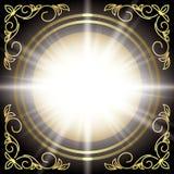 Noircissez la carte de vecteur avec le décor et la bavure floraux d'or illustration libre de droits