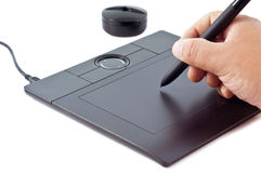 noircissez la tablette digitale Photo libre de droits
