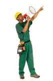 Noircissez le travailleur de la construction photo libre de droits