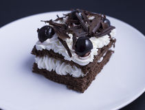 Noire Foret, классический торт француза Стоковая Фотография
