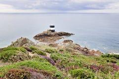 Noirmont punkt i Jersey, kanalöar Arkivfoton