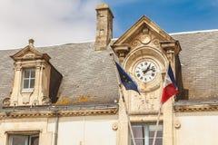 Noirmoutier,法国城镇厅的建筑学细节与 免版税库存照片