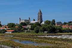 NOIRMOUTIER. CASTLE VIEW FROM JACOBSEN WAY Royalty Free Stock Photo