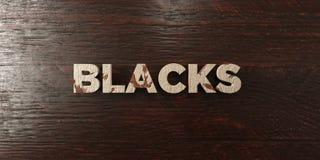 Noirs - titre en bois sale sur l'érable - image courante gratuite de redevance rendue par 3D illustration stock