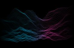 Noise abstract background color. Sound equalizer music waves. Wa. Ve background Stock Image