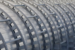 Noise Barrier. Construction of a noise wall along a highway stock images