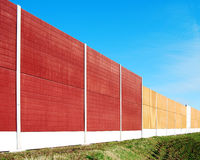 Noise barrier Stock Photography