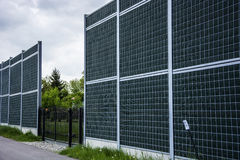 Noise barrier fence Stock Images