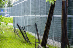 Noise barrier fence Royalty Free Stock Images