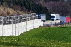 Noise barrier Stock Photos