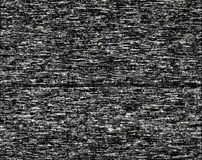 Noise on a black screen Stock Image