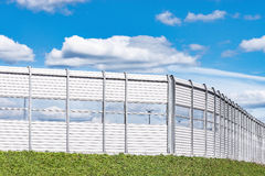Noise protection fence. Stock Photos