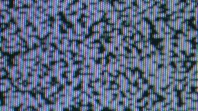 Noise tv blinks, no signal screen. Blinking tv noise motion texture, real classic television set stock footage