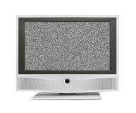 Noise on TV screen Stock Photo