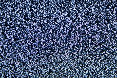 Noise tv screen pixels interfering signal. stock photo