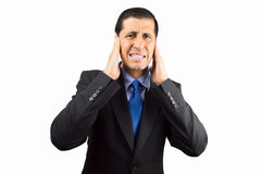 This noise is unbearable royalty free stock images