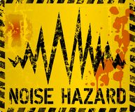 Noise warning sign, grungy style Stock Image