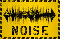 Noise warning sign,. Grungy style, vector illustration vector illustration