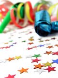 Noisemakers and Confetti Royalty Free Stock Photo
