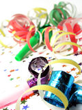 Noisemakers en Confettien stock foto's