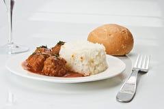 Noisettes com arroz decora Imagens de Stock