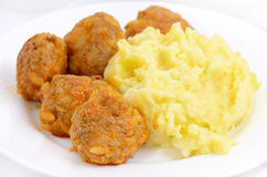 Noisettes with mashed potatoes Stock Photography