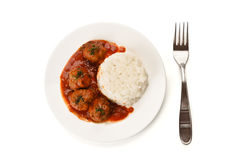 Noisettes with rice garnish Royalty Free Stock Image