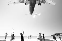 Noisiest beach Royalty Free Stock Images