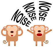 Noisy monkey Stock Images
