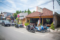 Noisy streets of Ubud Stock Images