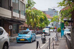 Noisy traffic on  streets of Kuta Royalty Free Stock Image