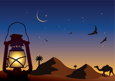 Noite árabe ilustração royalty free